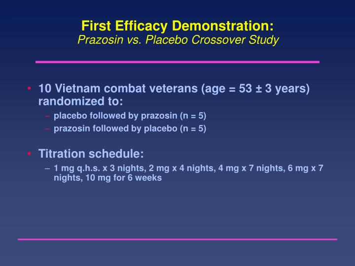 First Efficacy Demonstration:
