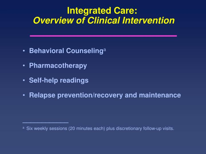 Integrated Care: