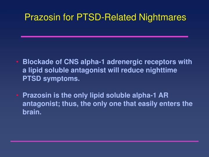 Prazosin for PTSD-Related Nightmares