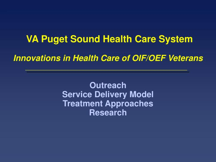 VA Puget Sound Health Care System