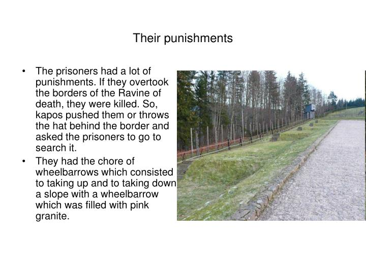 their punishments