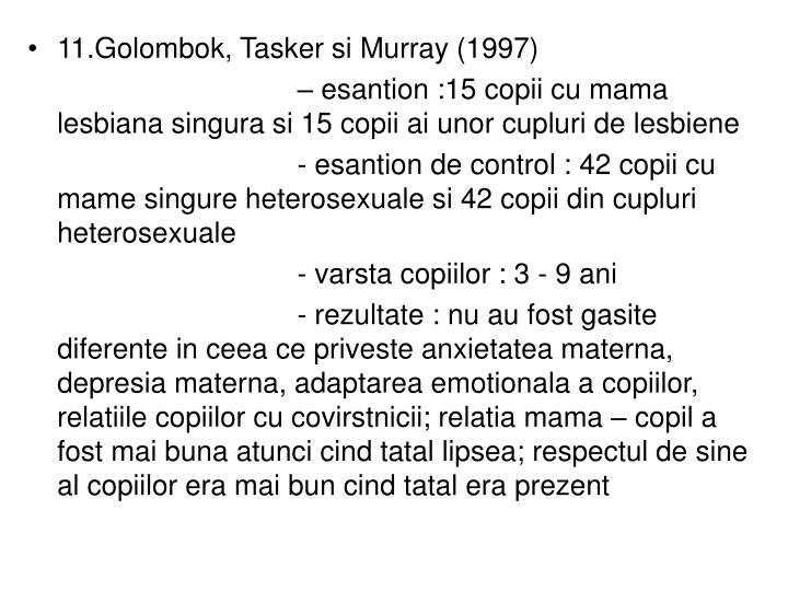 11.Golombok, Tasker si Murray (1997)