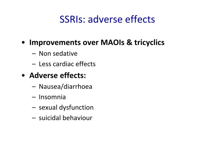 SSRIs: adverse effects