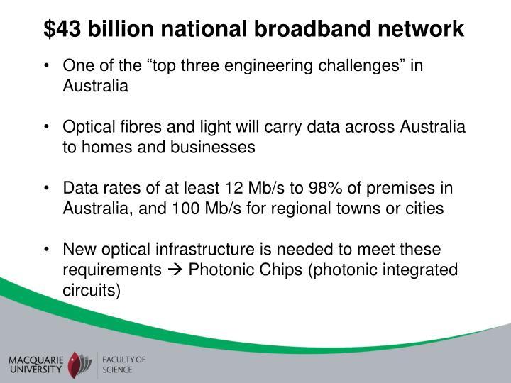 $43 billion national broadband network