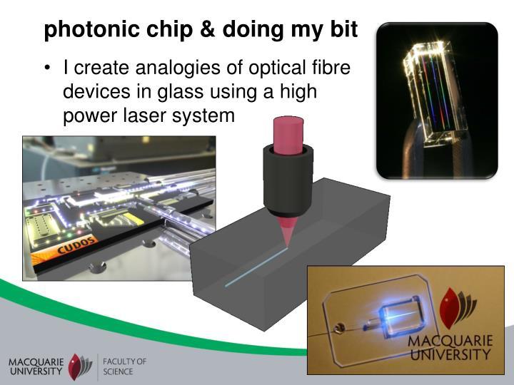 photonic chip & doing my bit