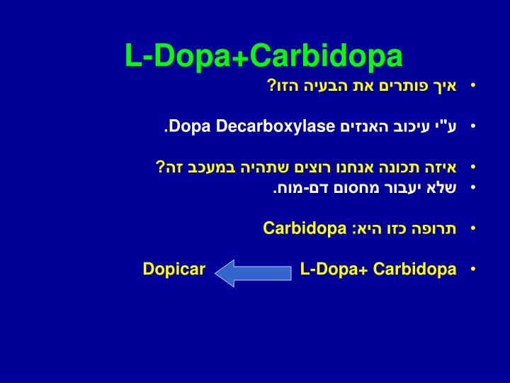 L-Dopa+Carbidopa