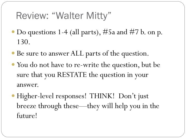 "Review: ""Walter Mitty"""