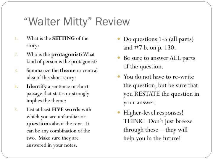"""Walter Mitty"" Review"