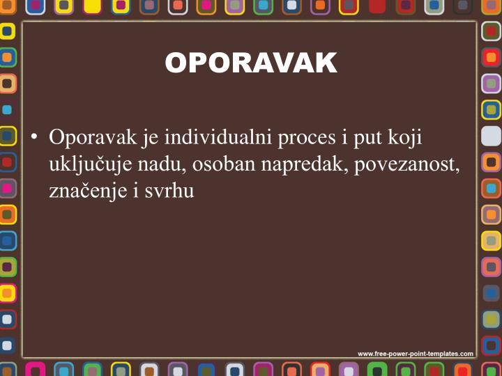 OPORAVAK