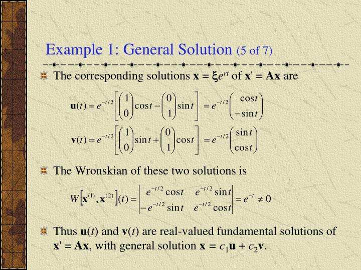 Example 1: General Solution