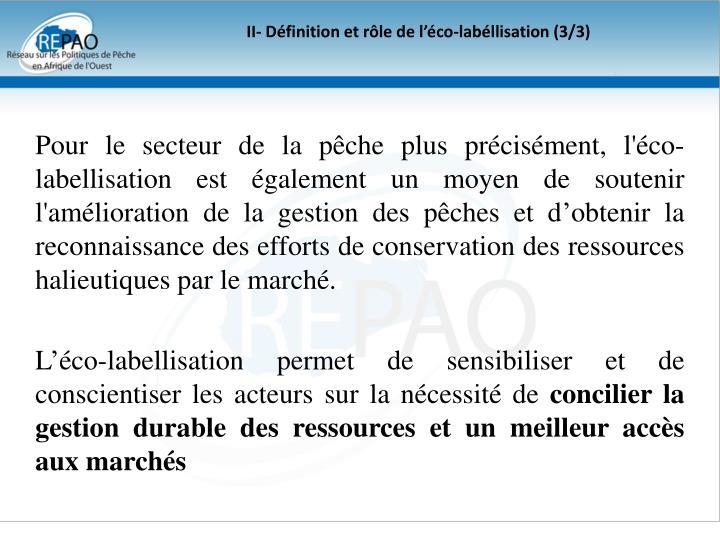 II- Définition et rôle de l'éco-