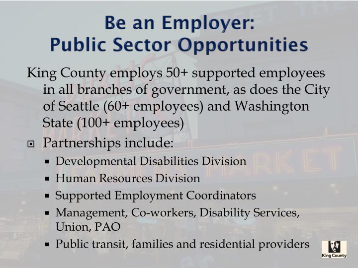 Be an Employer: