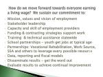how do we move forward towards everyone earning a living wage we sustain our commitment to