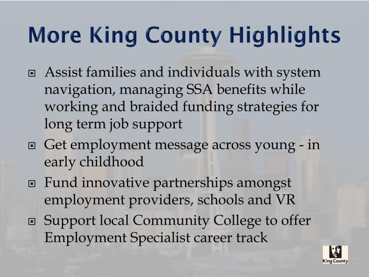More King County Highlights
