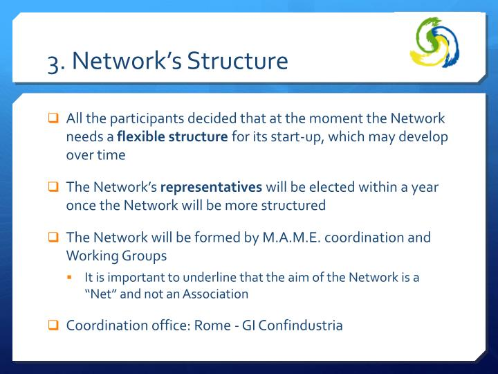 3. Network's Structure