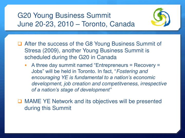 G20 Young Business Summit