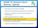 mame ye network interim meeting agenda3