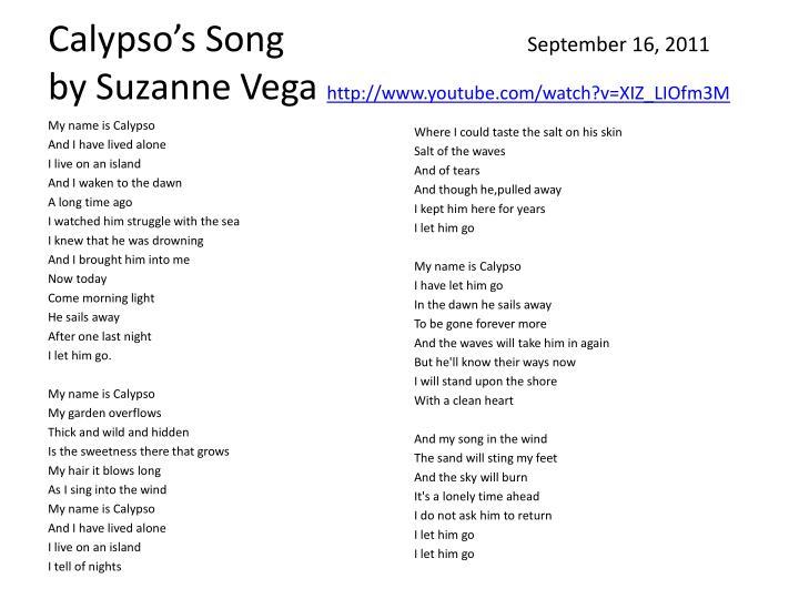 Calypso's Song