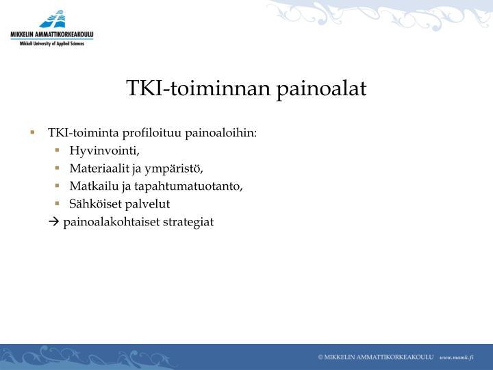 TKI-toiminnan painoalat