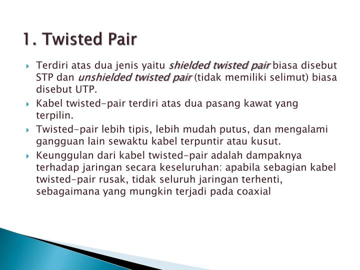 1. Twisted Pair