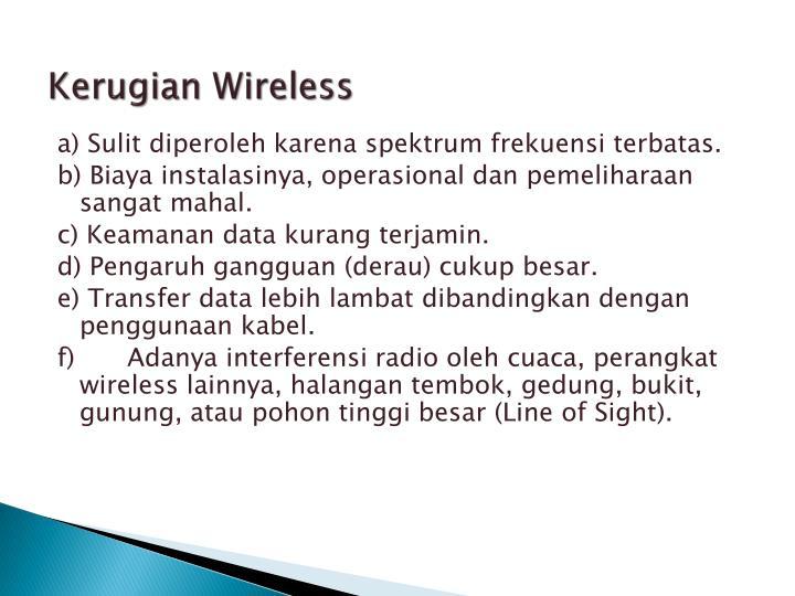 Kerugian Wireless