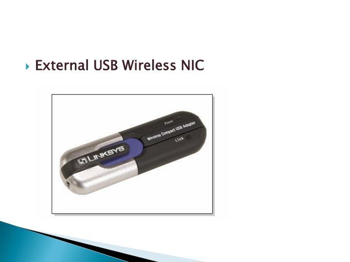External USB Wireless NIC