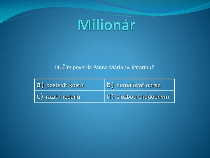 Milionár