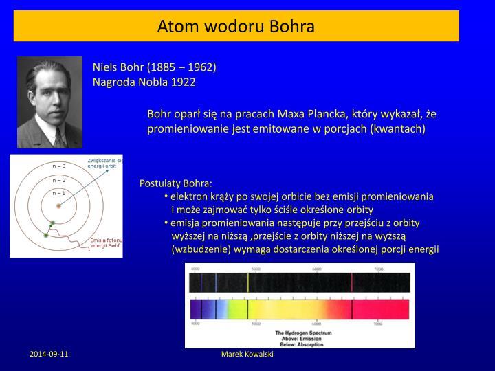 Atom wodoru Bohra