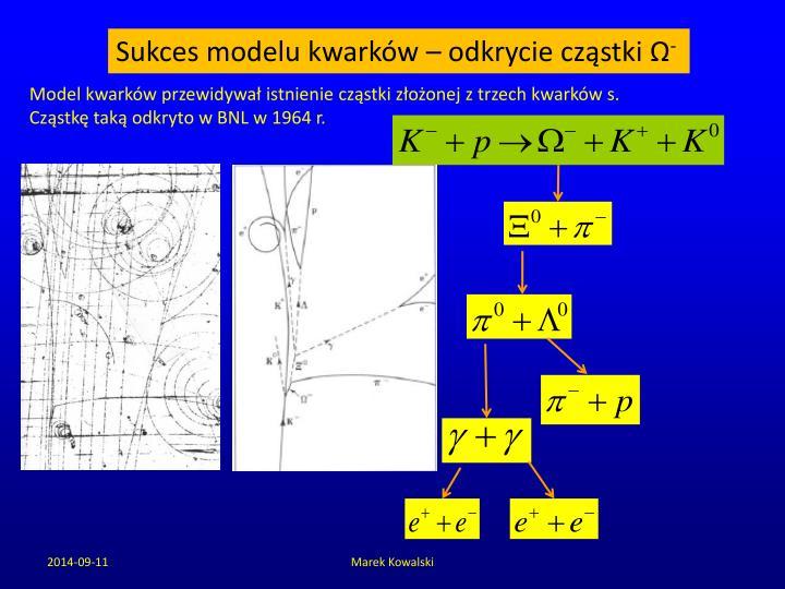 Sukces modelu kwarków – odkrycie cząstki