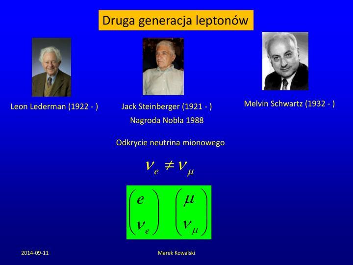 Druga generacja leptonów