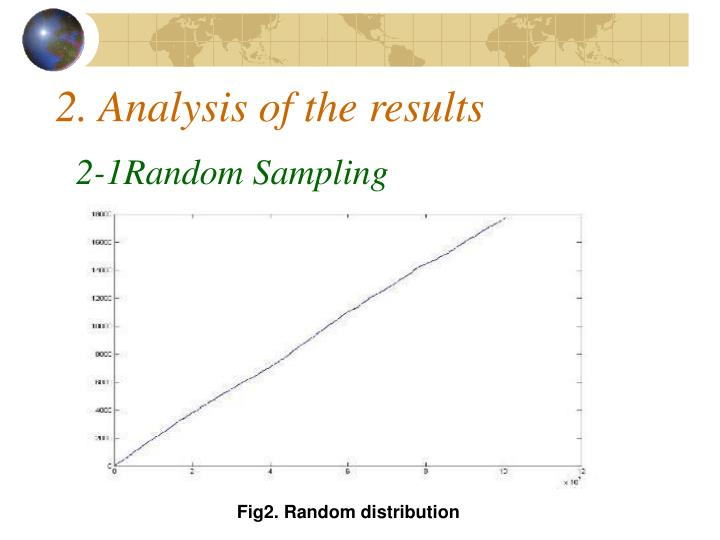 2. Analysis of the results