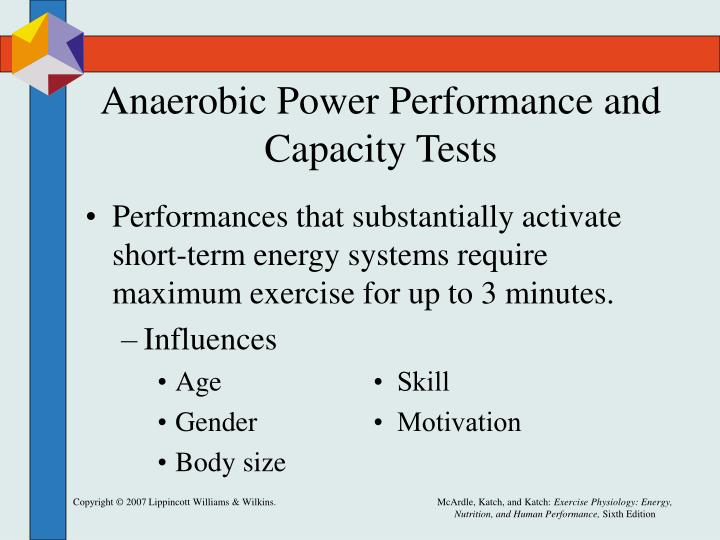 Anaerobic Power Performance and Capacity Tests