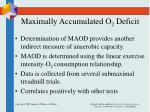 maximally accumulated o 2 deficit