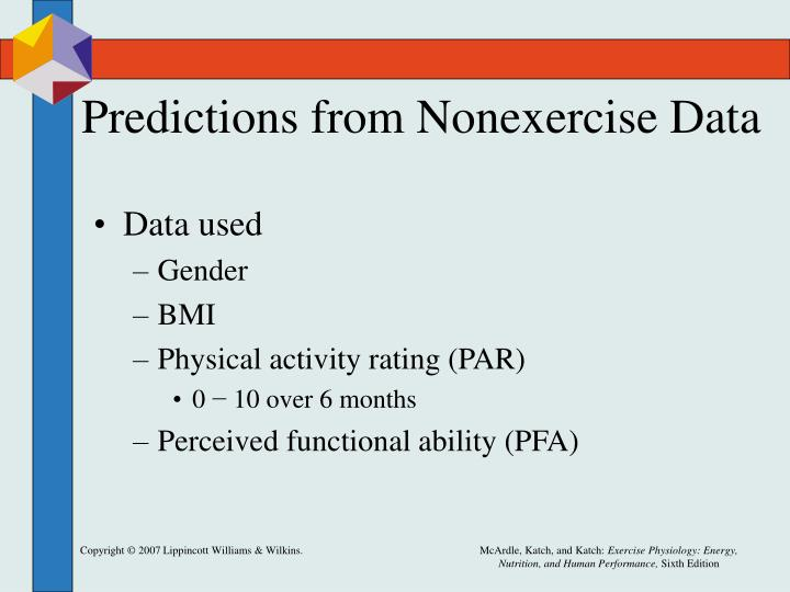 Predictions from Nonexercise Data