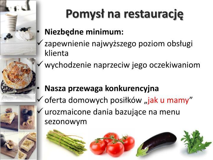Pomysł na restaurację
