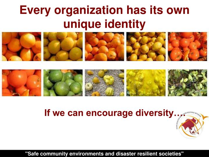 Every organization has its own unique identity