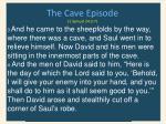 the cave episode 1 samuel 24 3 7
