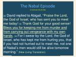 the nabal episode 1 samuel 25 25 261