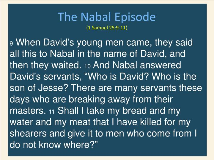 The Nabal Episode