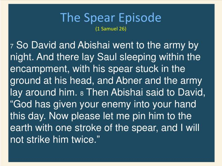 The Spear Episode