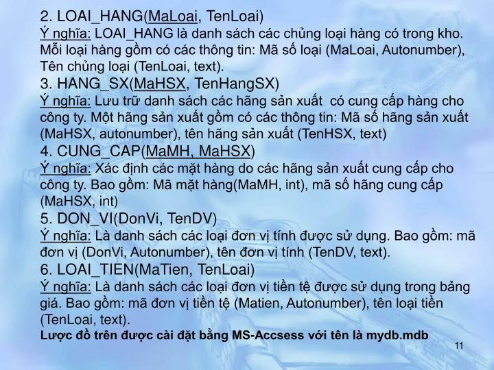2. LOAI_HANG(