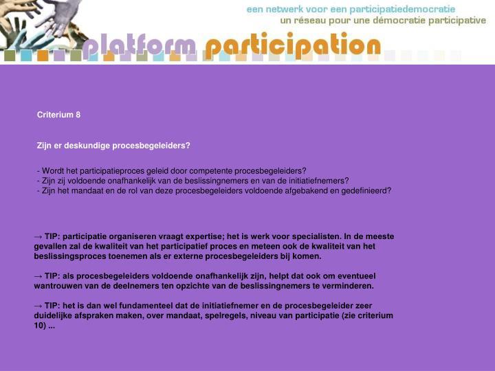 Criterium 8