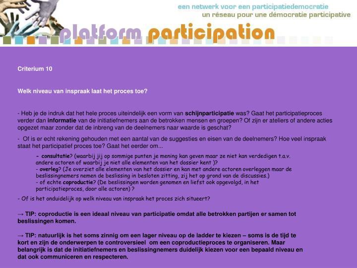 Criterium 10