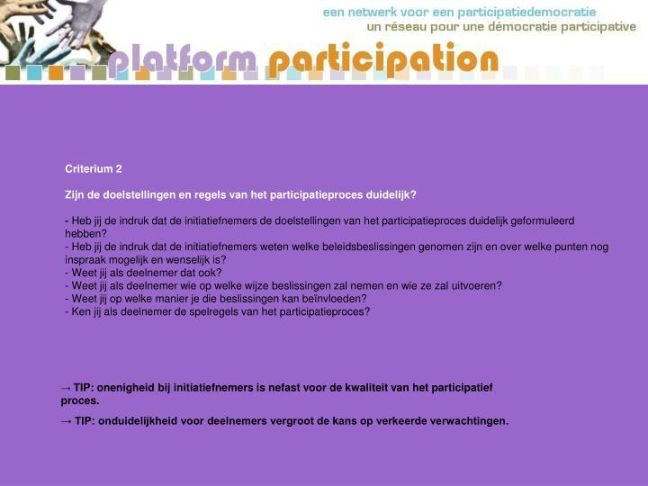 Criterium 2