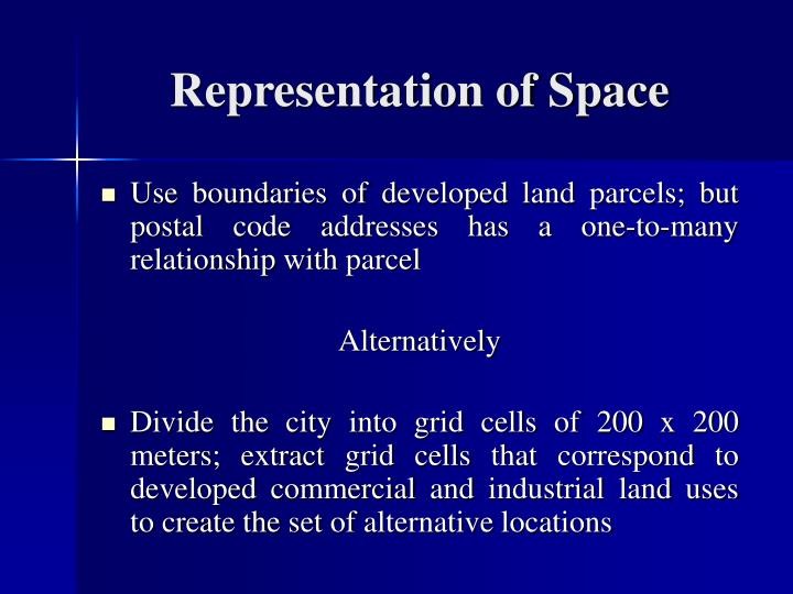 Representation of Space