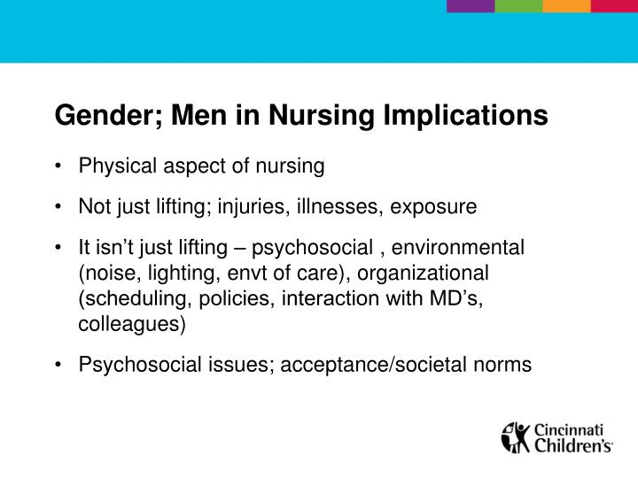 Gender; Men in Nursing Implications