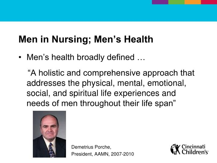 Men in Nursing; Men's Health