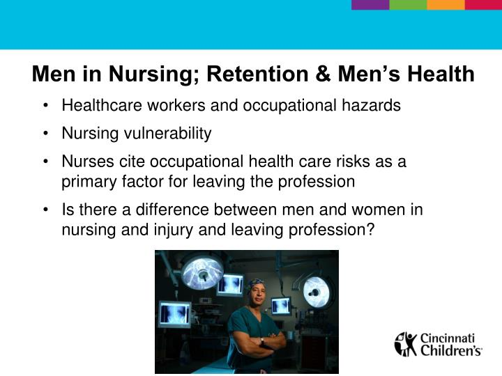 Men in Nursing; Retention & Men's Health