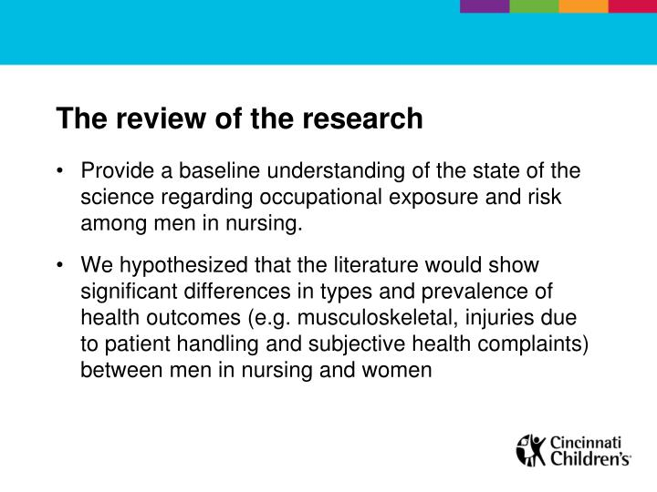 The review of the research