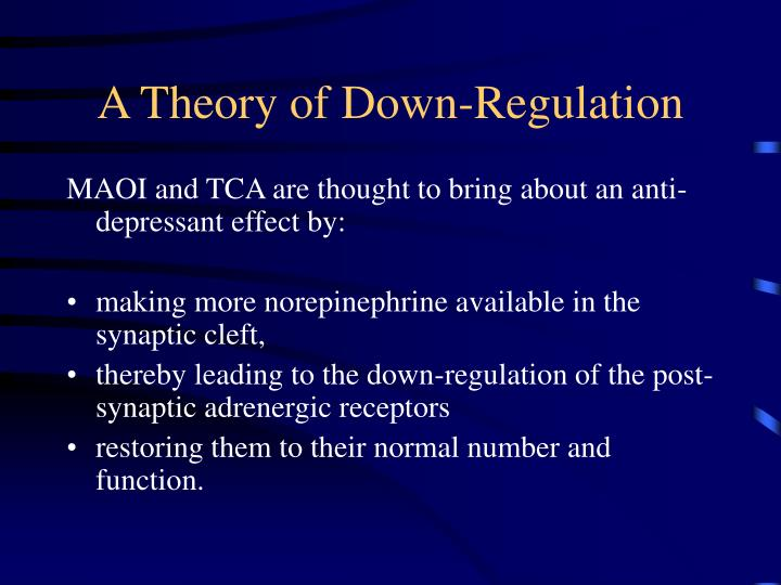 A Theory of Down-Regulation